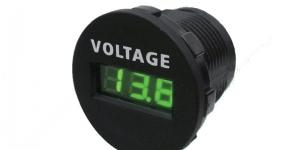 Автомобильный вольтметр врезной 6-33V SCI
