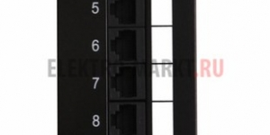 "Патч-Панель 10"" 12 гнёзд RJ-45 Cаt.5e 110 IDC ( монтаж на стенку)"