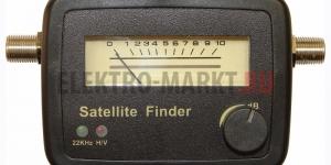 Измеритель уровня сигнала спутникового TV с двумя светодиодами SF-20 (SAT FINDER