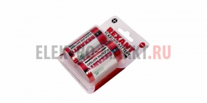 "Алкалиновые батарейки D/LR20 ""REXANT"" 2шт 1,5 V 15200 mAh блистер"