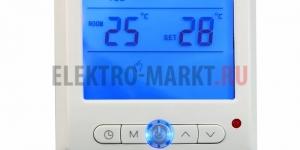Терморегулятор с дисплеем и автоматическим програмированием (3681 Вт)