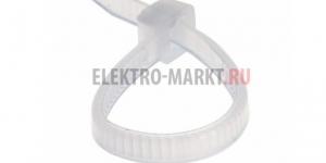 Хомут nylon 5.0 х 200 мм 100 шт белый REXANT