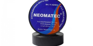 Изоляционная лента ПВХ 19мм х 25м х 0,13мм чёрная Neomatec