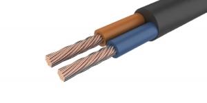 Провод соединительный ПВС 2х0.75 чёрный