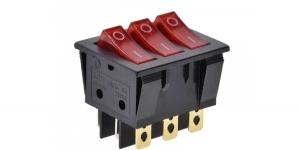 Выключатель 3-х клавишный с подсветкой IRS-3101-3C