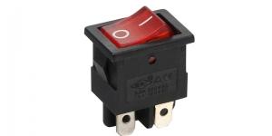 Выключатель клавишный на 2 группы контактов с подсветкой 12V MIRS-201