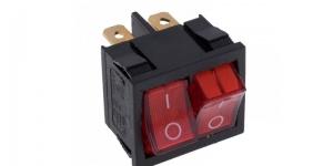 Выключатель 2-х клавишный с подсветкой MRS-2101