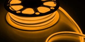 Светодиодный гибкий неон влагозащищённый SMD2835 120Led жёлтый 220V IP67 8х16мм