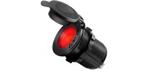 Гнездо прикуривателя с красной подсветкой врезное