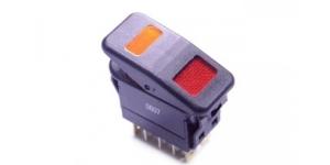 Выключатель клавишный на 2 группы с подсветкой R13-232C6B