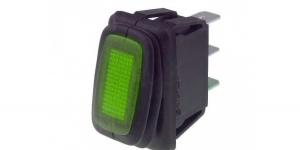 Выключатель клавишный влагозащищённый с подсветкой R13-238B