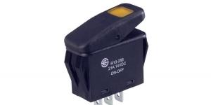 Выключатель клавишный с подсветкой R13-258B-01