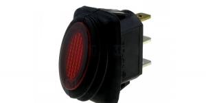Выключатель клавишный влагозащищённый с подсветкой R13-278A8