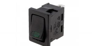 Выключатель клавишный с зелёной подсветкой R13-66L