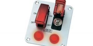 Панель на два тумблера с защитой тумблера и индикацией R18-P2A