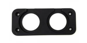 Рамка 2-а гнезда для установки USB или вольтметра