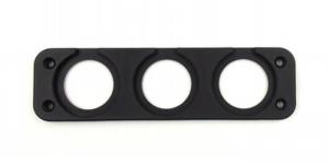 Рамка 3-и гнезда для установки USB или вольтметра