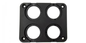 Рамка 4-е гнезда для установки USB или вольтметра