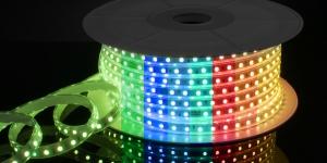 Светодиодная лента влагозащищённая SMD5050 60Led разноцветный RGB 220V IP67
