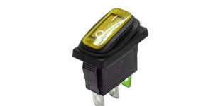 Выключатель клавишный влагозащищённый с подсветкой SC791