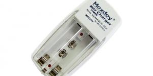 Зарядное устройство для аккумуляторов 2 АА\ААА, 1 Кроны