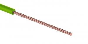 Провод ПГВА 1х0.35 мм² зелёный Cu Автопровод